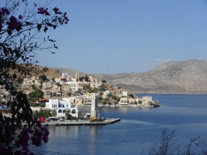 View of Gialos, county town of the island of Symi.