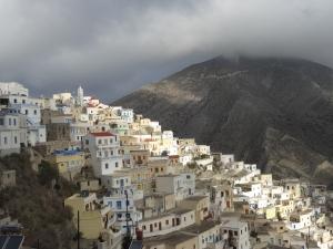Village d'Olympos. Karpathos, Dodécanèse.