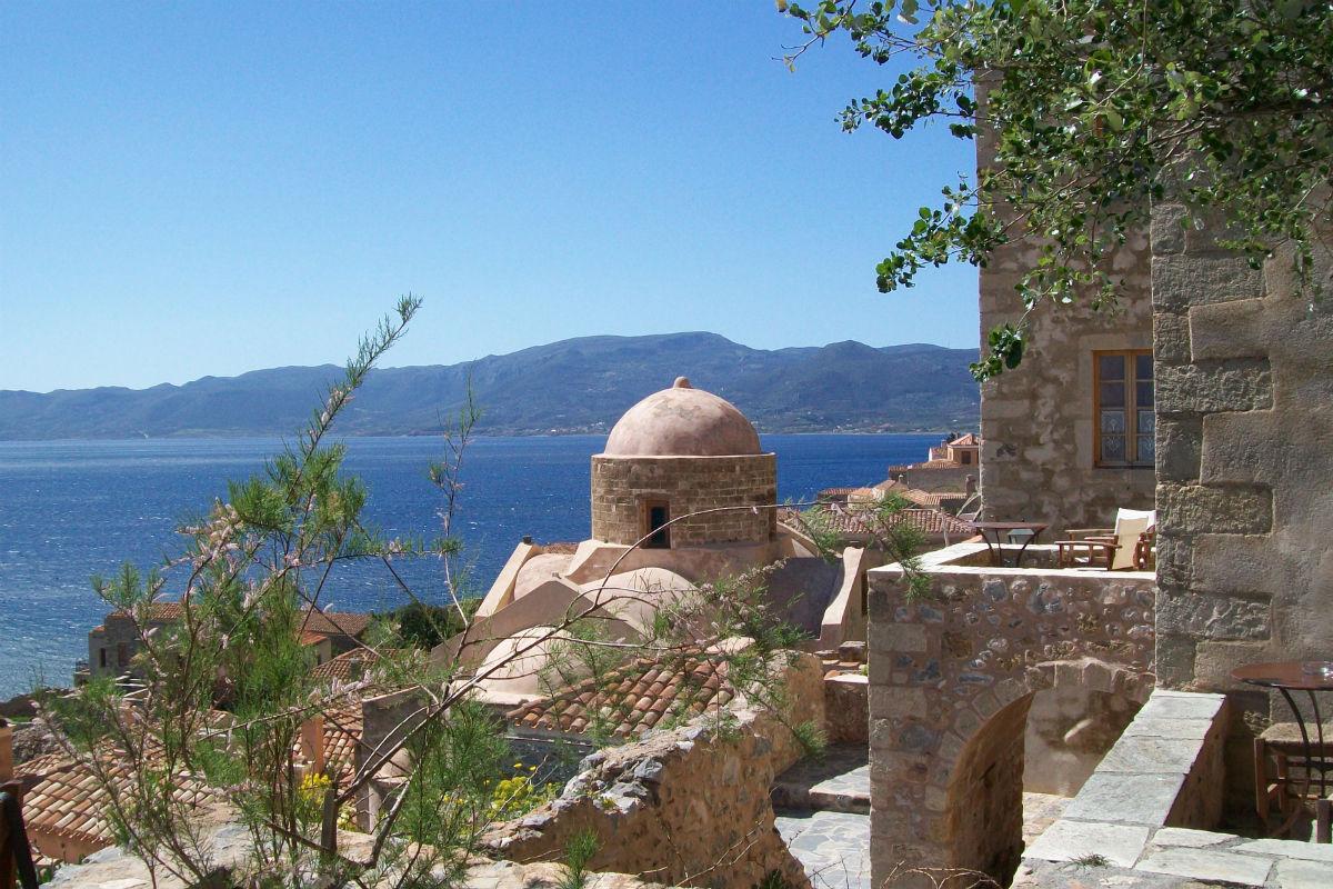 Monemvassia, Péloponnèse. Intérieur de la citadelle.