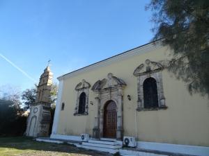 Eglise de St Charalambos à Zanthe, de style italien, typique des îles ioniennes.