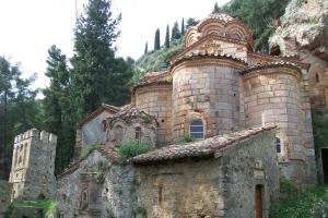Monastère de la Périvleptos («Visible de partout») à Mystra, Péloponnèse.