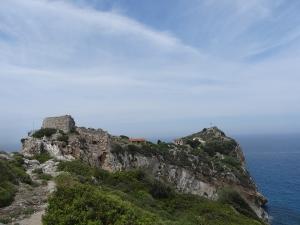 Le site de Kastro, au nord de l'île de Skiathos ( Sporades )