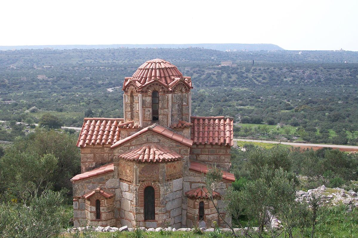 Église byzantine du XIII° : Nomia. Magne, Péloponnèse.