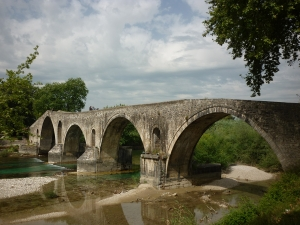 Byzantine bridge of Arta. There is a legend attached to it : to avoid it tocollapse, the master mason had to wall up his wife alive inside.