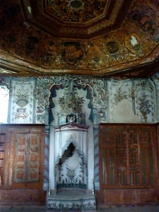 The Ottoman fireplace of the Shwarz's at Ambelakia.