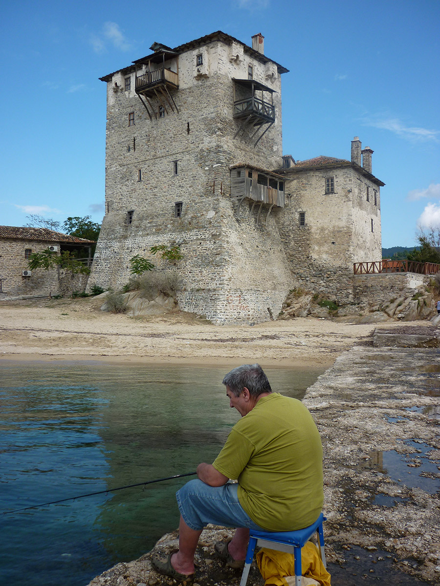 Old tower (14th ) at Ouranopolis, Halkidiki.