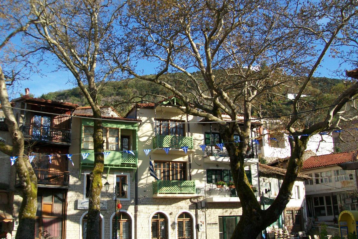 Maisons de Langadia. Arcadie, Péloponnèse.