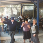 Dancing at Mega Livadi. Serifos.