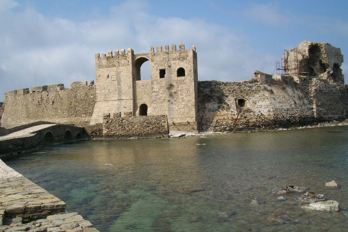 Fortress of Methoni, south-west of Peloponnese. The french general Maison was sent there by Charles X in 1828 to help greek people in his independence war.