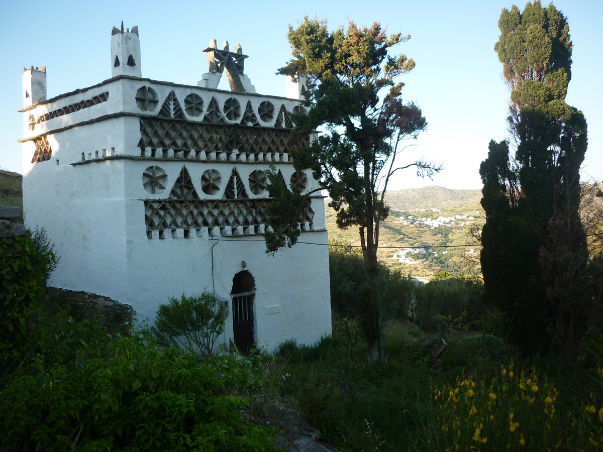 One of the venitians pigeon houses on the island of Tinos, in the village of Tarampados, the one which harbors the more, at the foot of the Rock of Exampourgo.