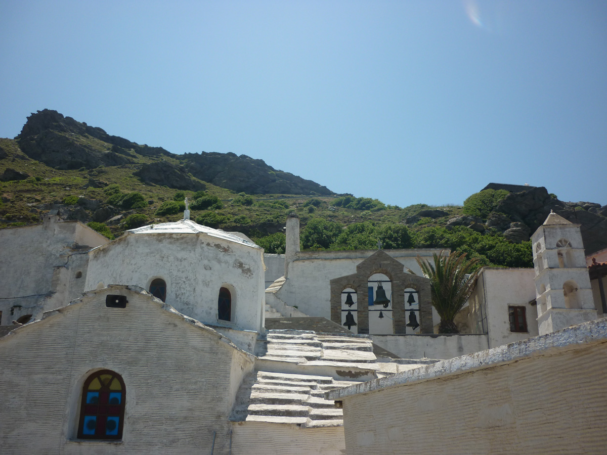 Monastery of Panachrantou ( Immaculate ), South—west of the island of Andros.