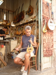 Lute maker at Rethymnon.