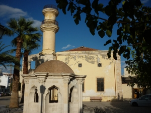 Ottoman mosque and fountain in Ierapetra, the most southern town of Europe.
