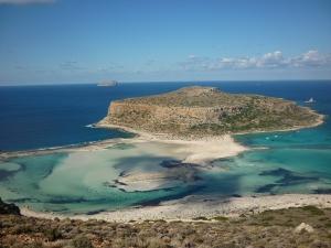Ilot d'Iméri Gramvoussa. Presqu'île de Gramvoussa, Crète.