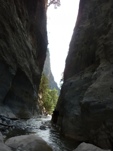 The « Iron Gates ». Samaria Gorge. « Thermopyles » of Crete : during their entire occupation of the country, the Turks never passed through them.