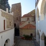 Monastère de St Pantéleïmon. Ile de Tilos, Dodécanèse.
