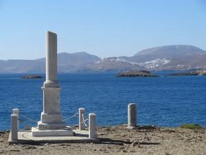 Monument à Hippolyte Bisson. Baie de Maltézana. Astypaléa