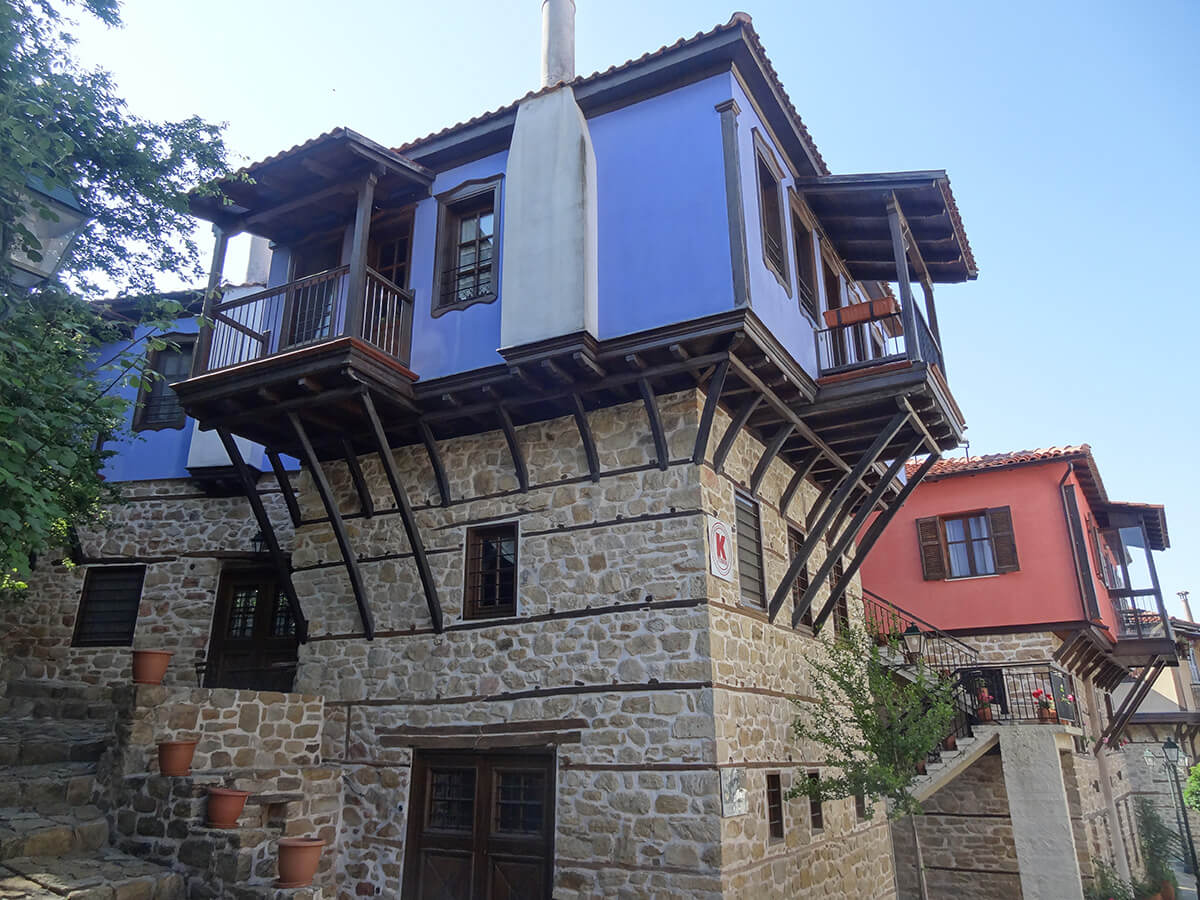 Balkan houses at Arnaia. Halkidiki